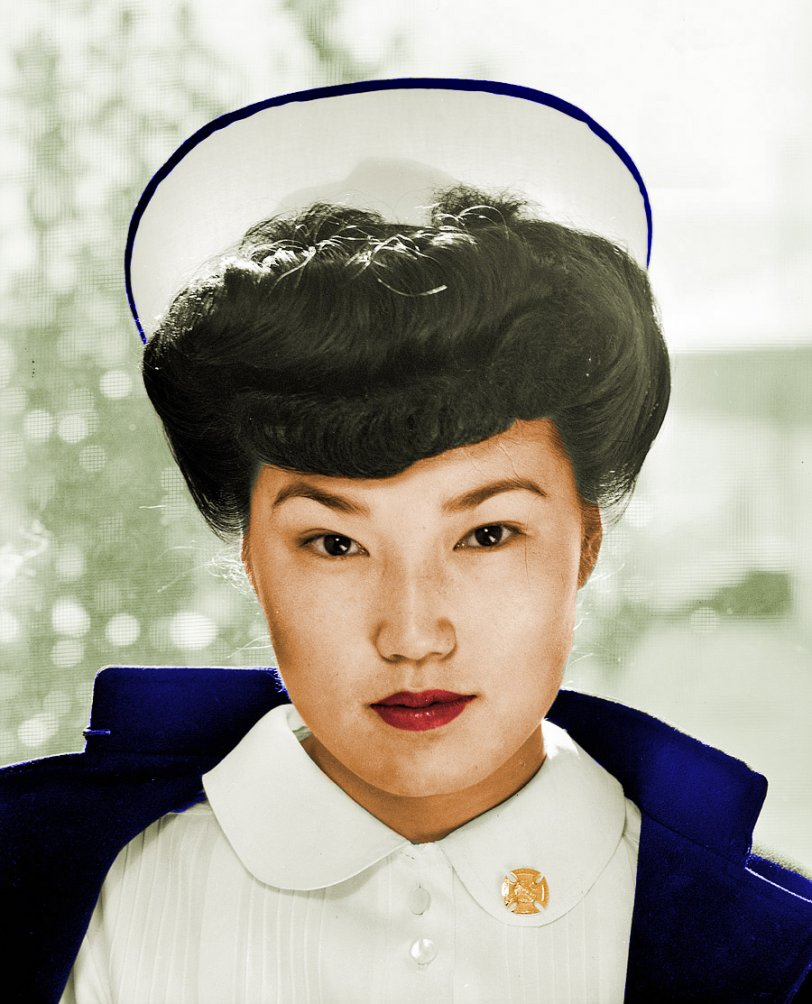 Beautiful Nurse (colorized)