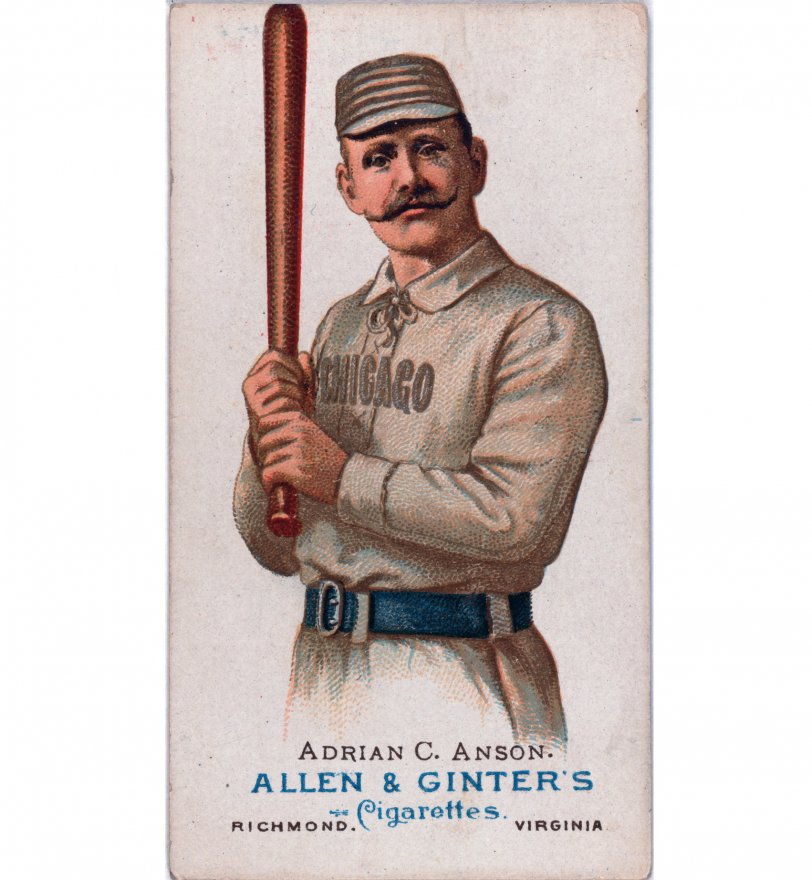 Image of a 19th century baseball card