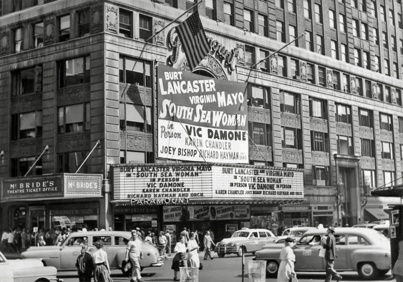 Paramount Theatre, NYC: 1953 | Shorpy Old Photos | Poster Art