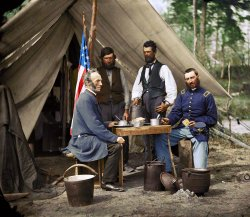 Coffee Break (Colorized): 1862
