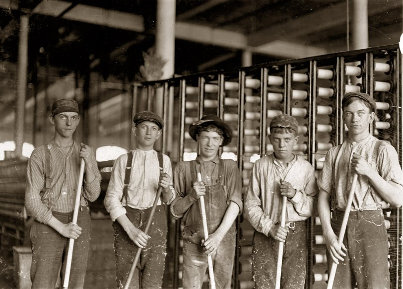 Boys With Brooms: 1908