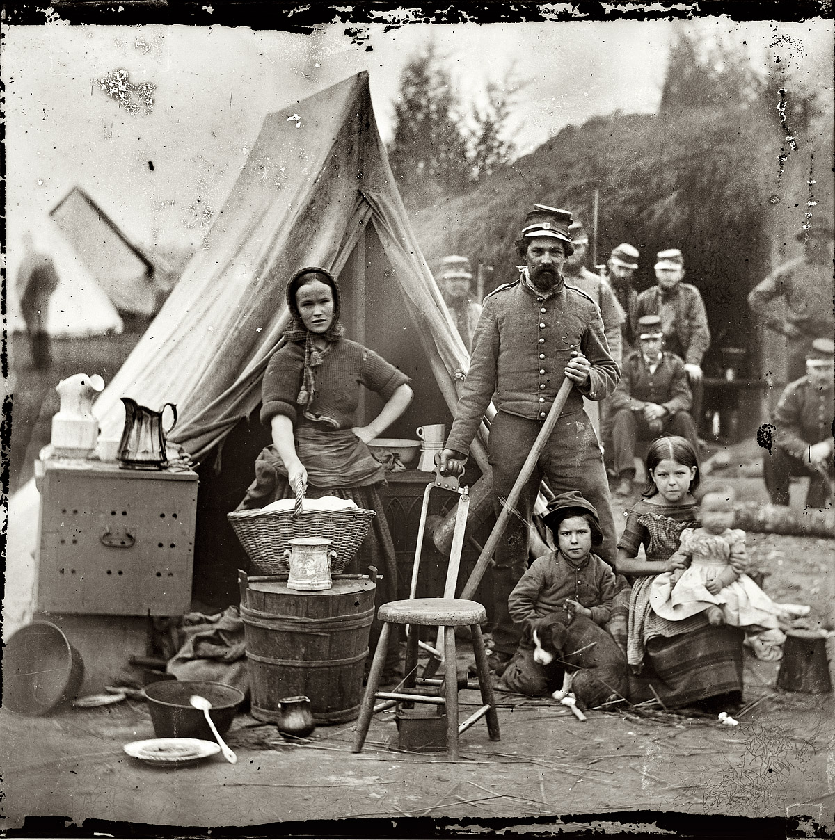 Shorpy Historic Picture Archive :: The Comforts of Home: 1861  high-resolution photo