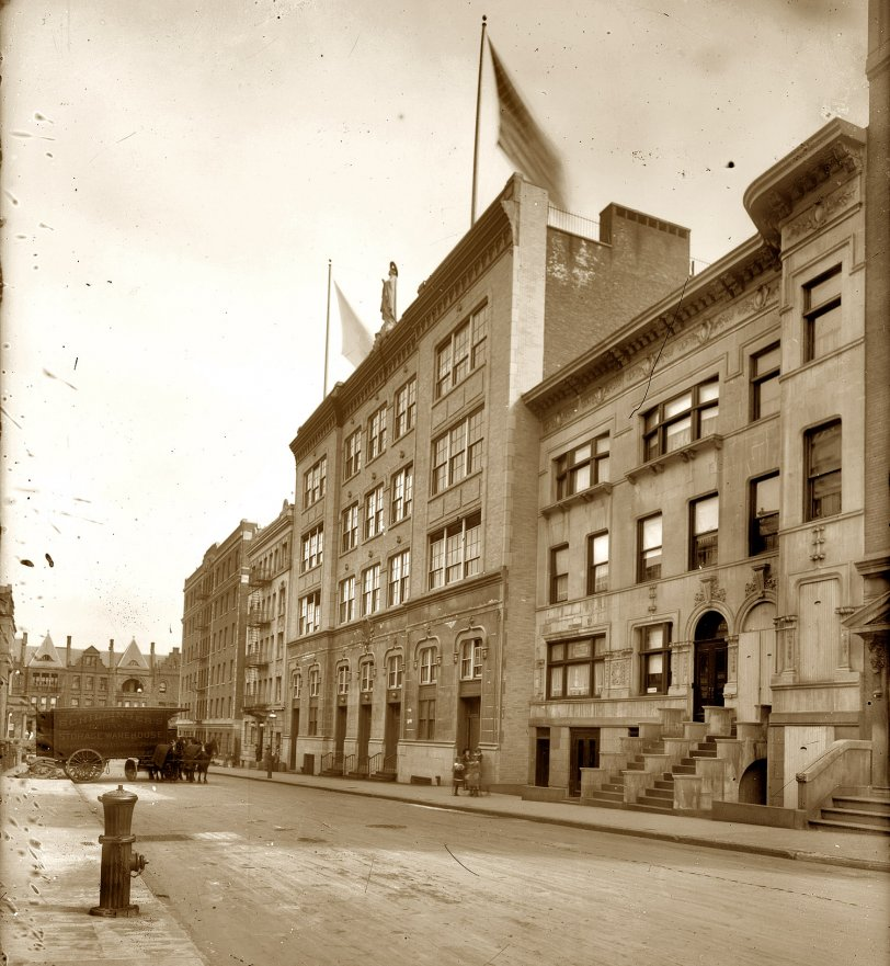 Our Lady Of Lourdes School Shorpy Old Photos Vintage Photography