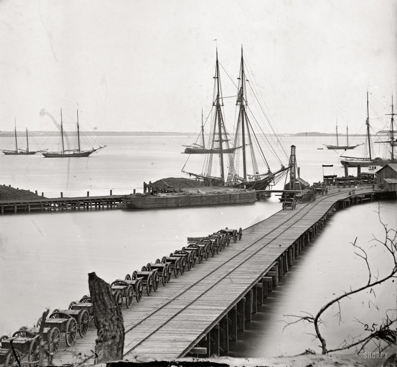 City Point Wharf: 1865