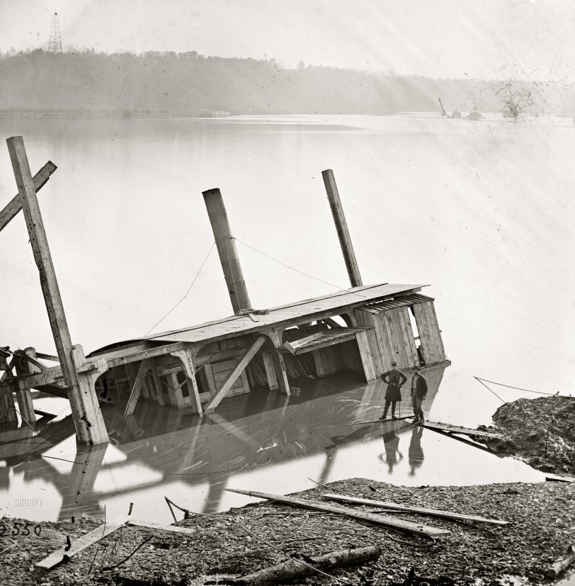 Dredge-Boat: 1864 | Shorpy Old Photos | Poster Art