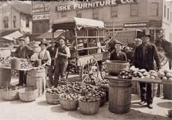 Fruit Market: 1908