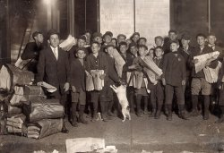 Newsies and Dog: 1909