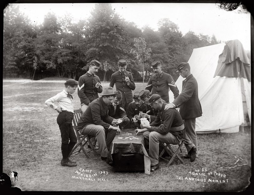 Poker Game at Camp McKibbin: 1893