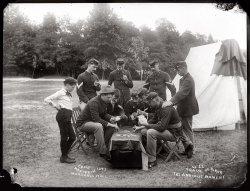 Poker Game at Camp McKibbin: 1893