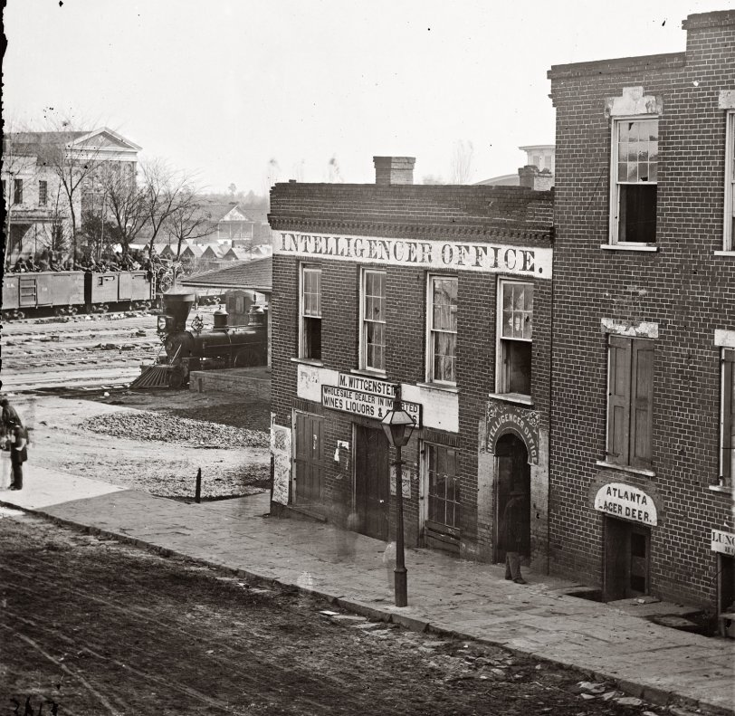 Ghosts Of Atlanta 1864 Shorpy Old Photos Poster Art