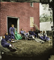 Wounded Soldiers (colorized)