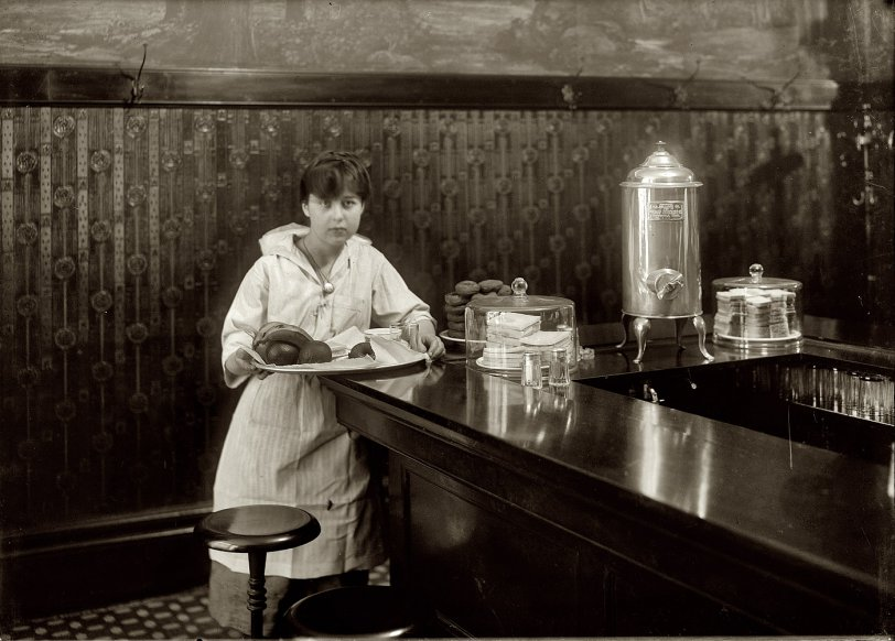 A Young Waitress: 1917
