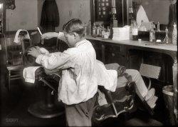 Boy Barber: 1917