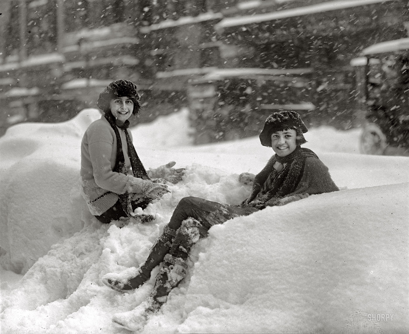 Shorpy Historic Picture Archive Snow Angels 1922 High