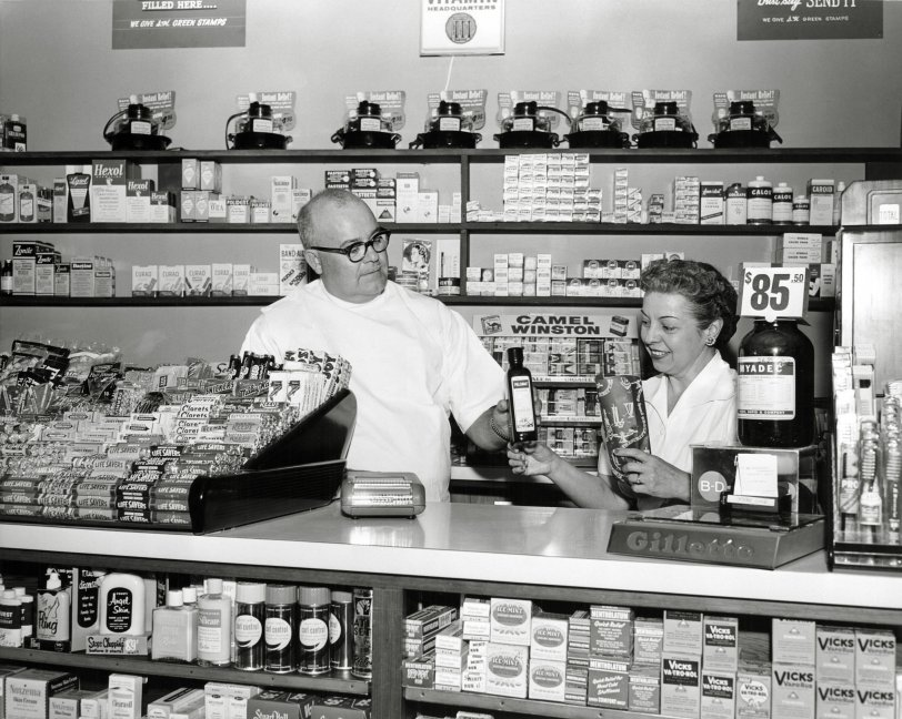 101 Broadway Pharmacy: 1957