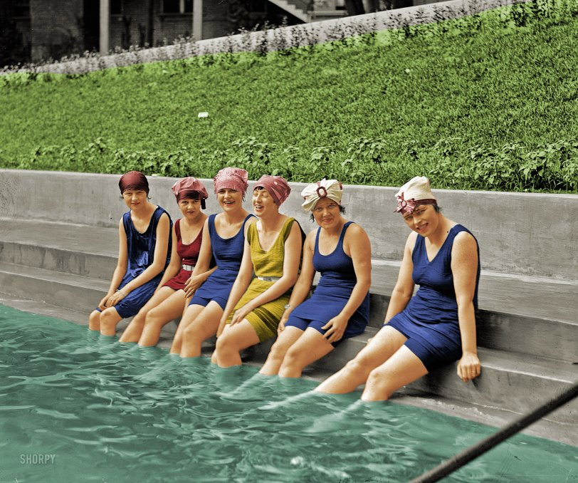 Bathing Caps (colorized)