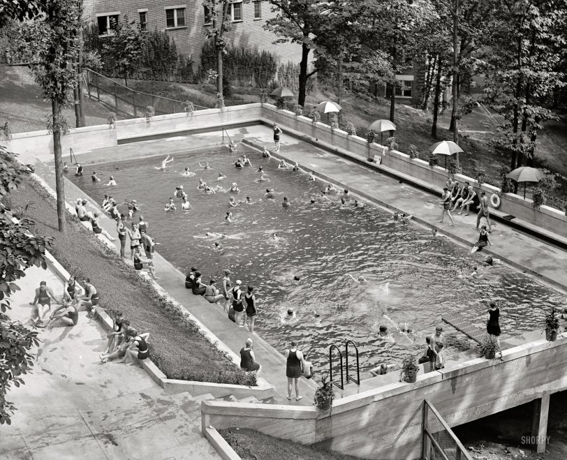 Shorpy historic picture archive vintage photos fine Washington park swimming pool milwaukee