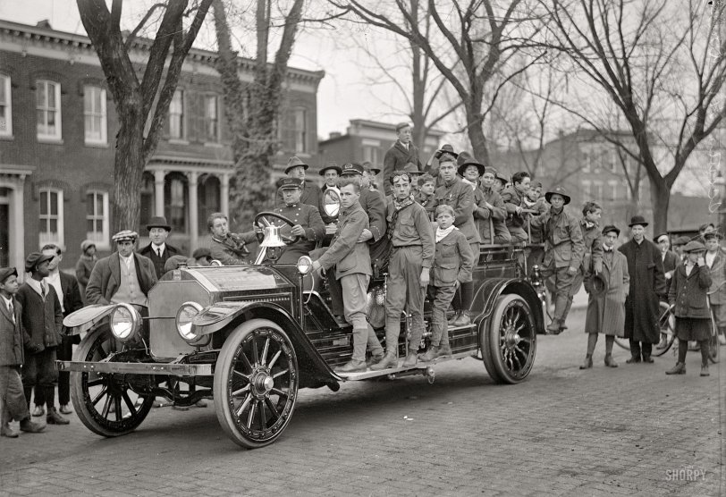 Boy Scout Fire Drill: 1916