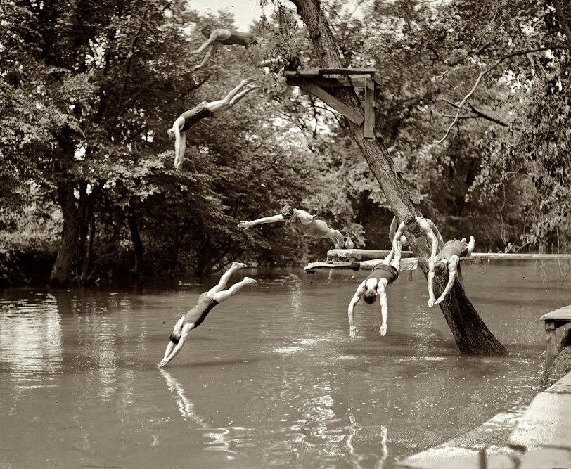 Swimming Hole Ambush: 1922