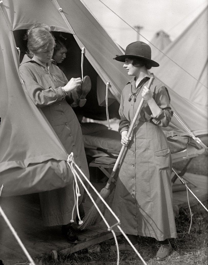 Mrs. Slater, Miss Moore: 1916