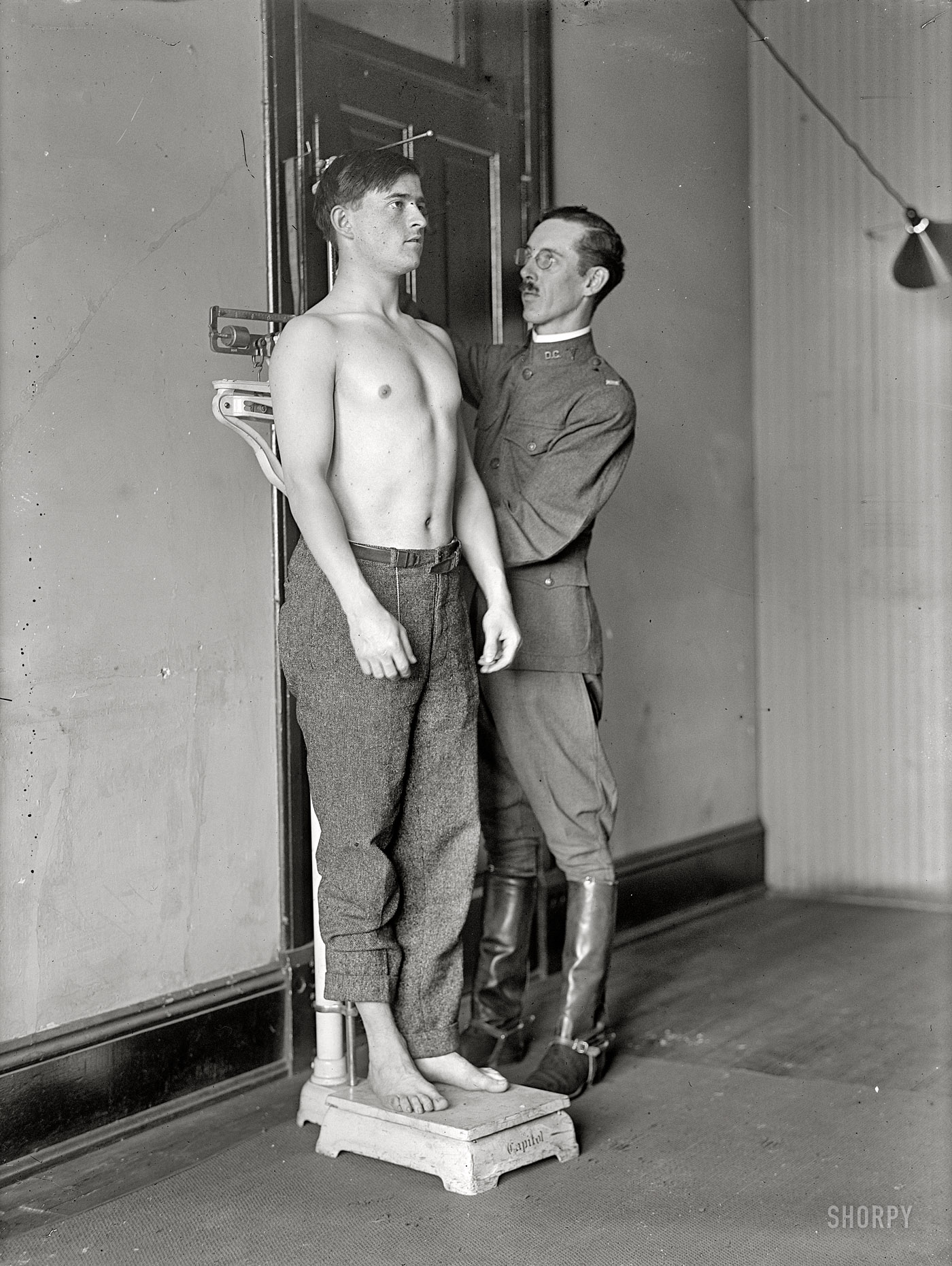 Male physical military exam with cum shot 10