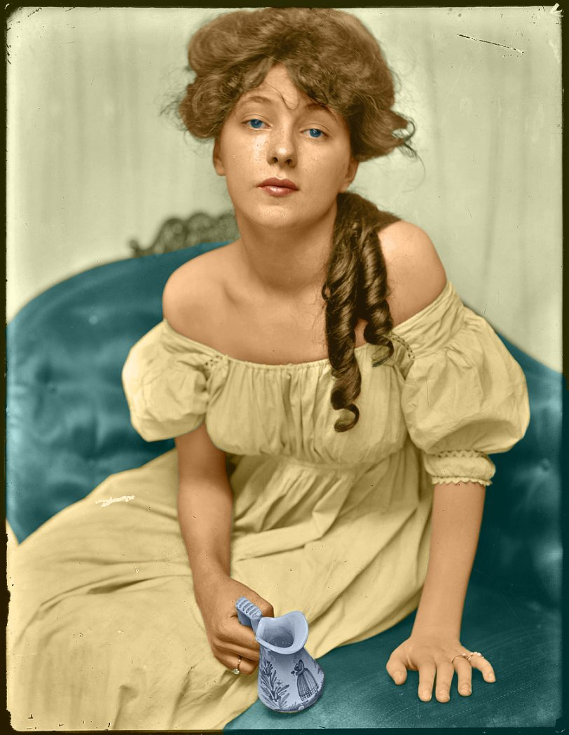 Young Evelyn (colorized)