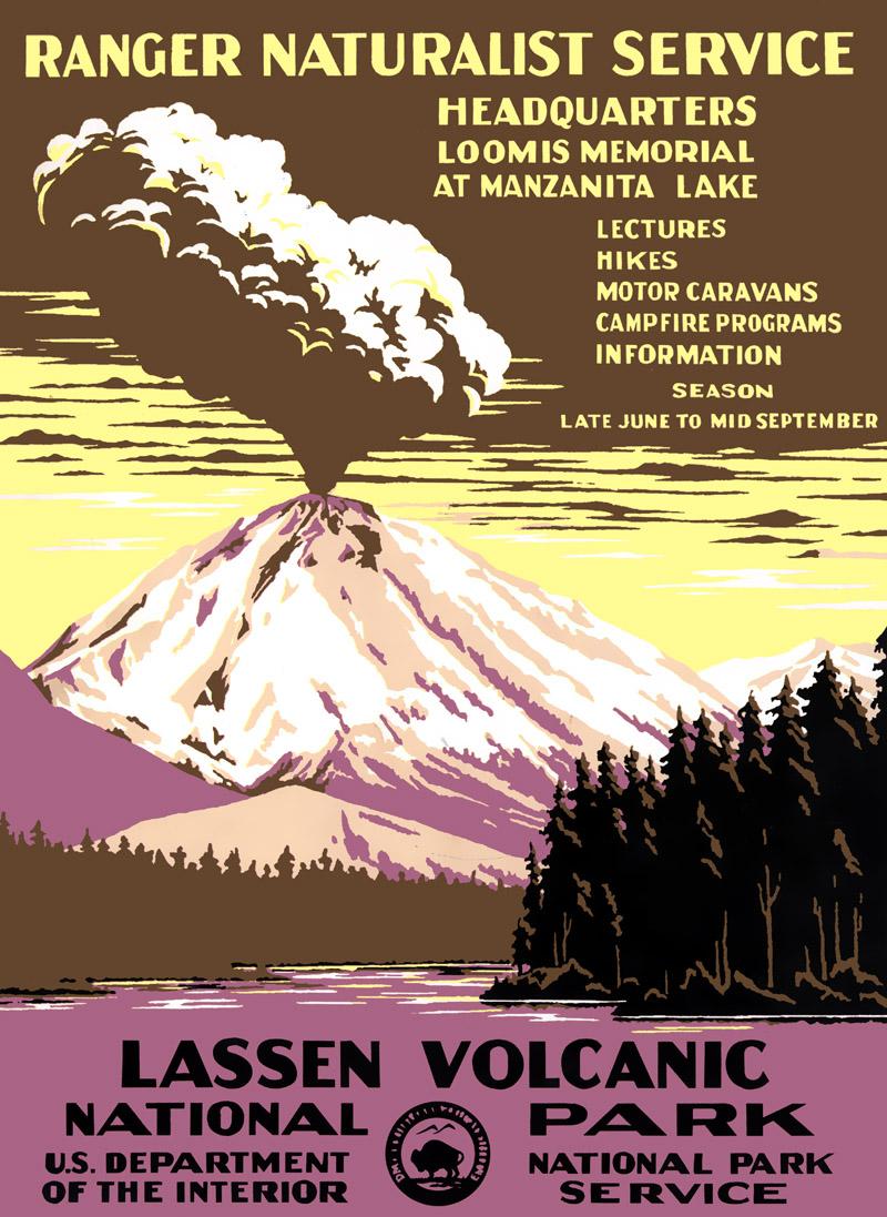 Lassen Volcanic National Park: 1938