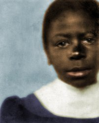 Elementary Schoolgirl (colorized)