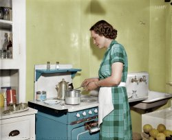 Mildred Pepper (Colorized): 1937