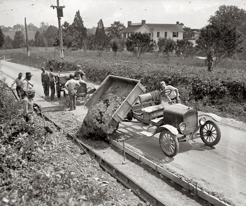 Herr Dump Car 1925 Shorpy Historical Photos