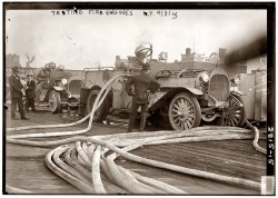 Testing Fire Engines: 1913