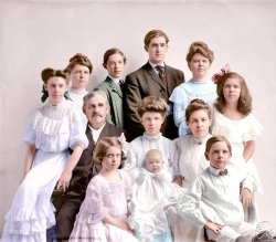 Group Portrait (Colorized): 1905