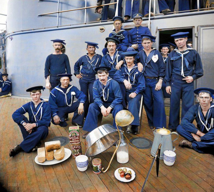 Navy Cooks (Colorized): 1897