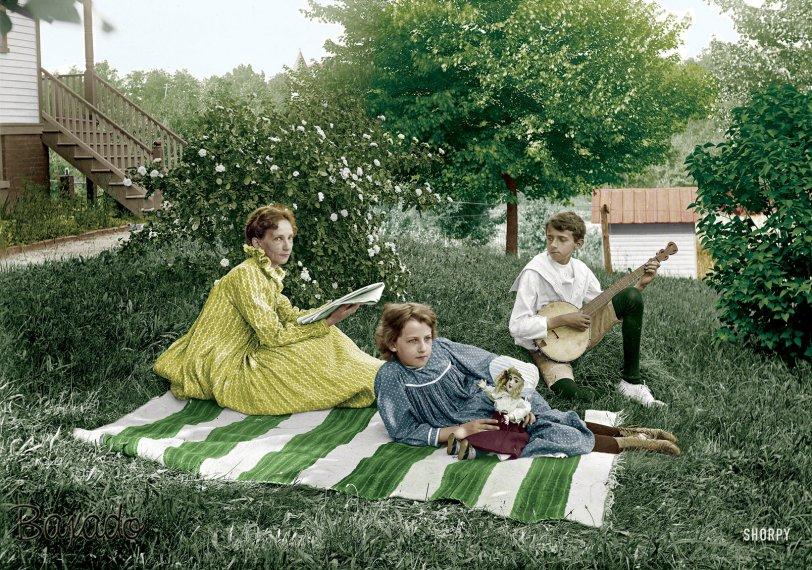 Musicale Alfresco (Colorized): 1897