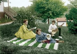 Musicale Alfresco (Colorized): 1897