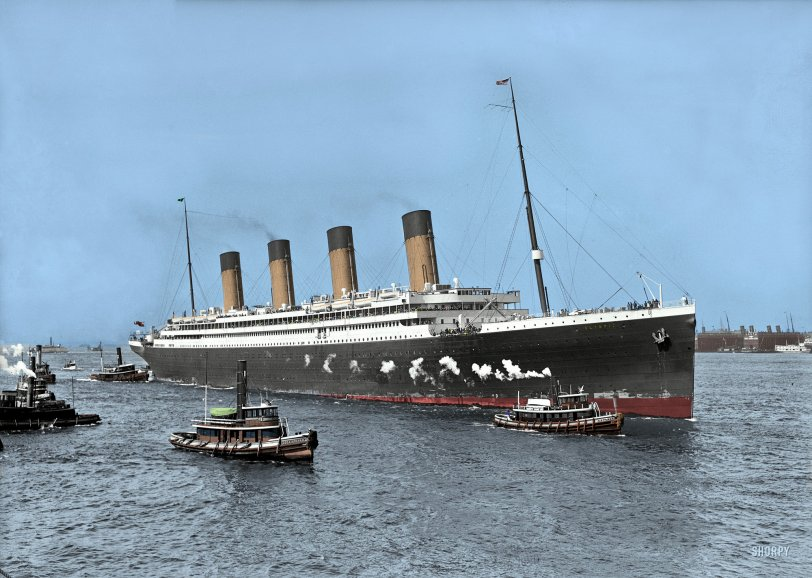 S.S. Olympic (Colorized): 1911
