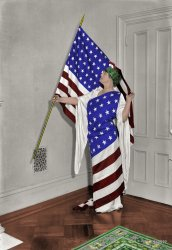 Wrapped in the Flag (Colorized): 1917