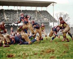 Soldiers vs. Devil Dogs (Colorized): 1923