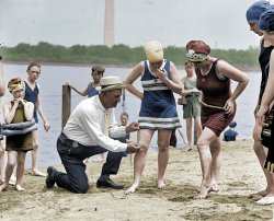 Beach Policeman (Colorized): 1922