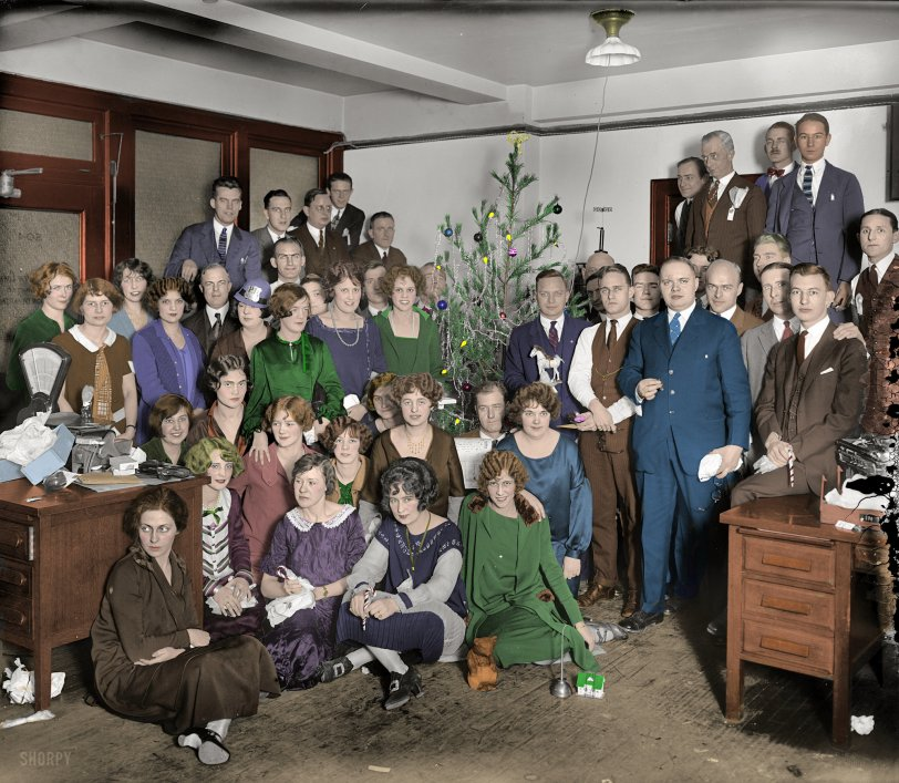 Western Electric Christmas (Colorized): 1925