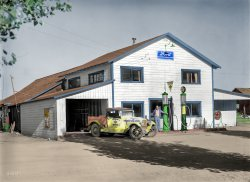 Red Crown Gasoline (Colorized): 1927