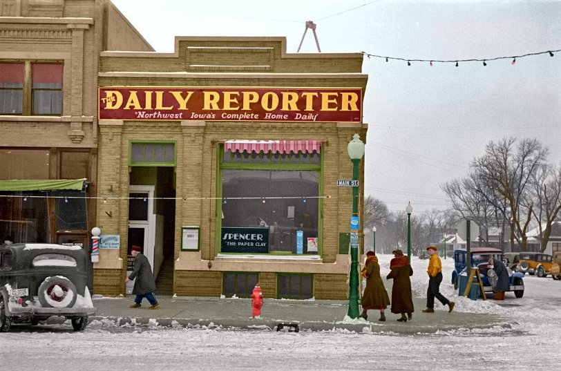 Spencer Daily Reporter (Colorized): 1936