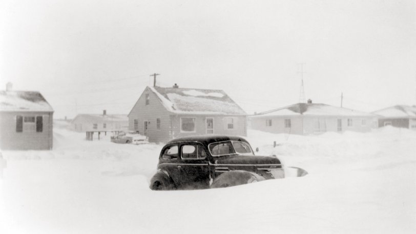 1939 Plymouth in Snow: March 1959