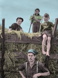 Hay Kids (Colorized): 1941