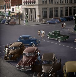 Saturday in Florence (Colorized): 1942
