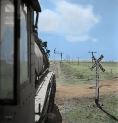 Waiting for the Light (Colorized): 1943