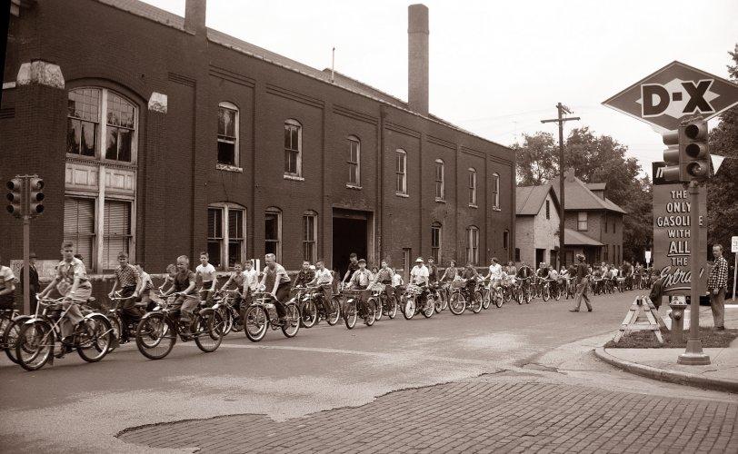 Bike Parade: 1954