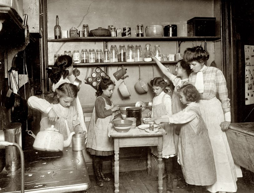 In the Kitchen: 1910