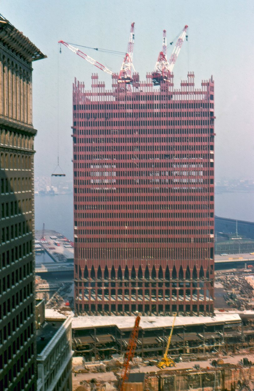 World Trade Center Going Up: 1969