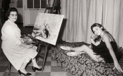 The Painter and her Model: 1970